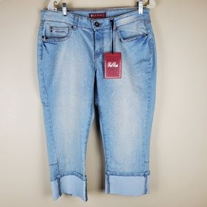 Red Rivet Cropped Jeans - Size 15